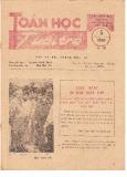 Toán học và tuổi trẻ Số 151 (5/1986)