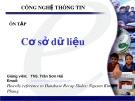 Bài giảng Ôn tập Cơ sở dữ liệu - ThS. Trần Sơn Hải