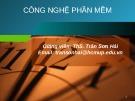 Bài giảng Công nghệ phần mềm: Chương 0 - ThS. Trần Sơn Hải