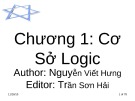 Bài giảng Toán rời rạc: Chương 1 - Nguyễn Viết Hưng, Trần Sơn Hải