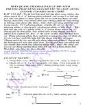 Phương pháp dùng giản đồ véc tơ (đầu - đuôi) giải bài tập xoay chiều - Trần quang Thanh