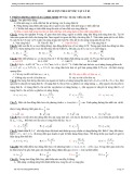 Đề luyện thi cấp tốc Vật lý 03 - THPT Quốc Văn