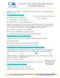 Tài liệu luyện thi đại học môn: Hóa học (Lý thuyết chọn lọc)