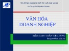 Bài giảng Văn hóa doanh nghiệp - Trần Việt Hùng