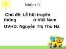 Bài thuyết trình: Lễ hội truyền thống ở Việt Nam