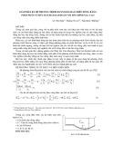 Giải phân rã hệ phương trình Raynolds hai chiều đứng bằng pháp phần tử hữu hạn hai giai đoạn với độ chính xác cao