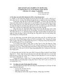 Một số kết quả nghiên cứu bước đầu về kiểm soát lũ vùng Đồng Tháp Mười - GS.TS. Đào Xuân Học