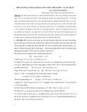 Một số thuật toán giải bài toán tối ưu phân thức và ứng dụng - ThS. Nguyễn Mạnh Hùng