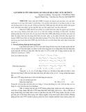 Lập trình tuyến tính trong quy hoạch khai thác nước dưới đất