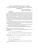 Thuật toán thể hiện trên máy tính các mô hình xác suất (tạo quan sát giả) và giò tìm tối ưu các hàm số cho mô hình toán - PGS.TS. Nguyễn Hữu Bảo