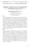 Nghiên cứu ảnh hưởng của N, P len khả năng sinh trưởng và tích lũy asen của loài dương xỉ pityrogramma calomelanos