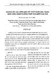 Nghiên cứu xác định dạng vết thủy ngân (Hg) trong nước sông bằng phương pháp von-ampe hòa tan