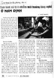 Tình hình xử lý ô nhiễm môi trường làng nghề ở Nam Định