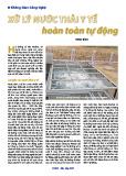 Xử lý nước thải y tế hoàn toàn tự động