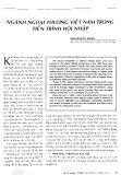 Ngành ngoại thương Việt Nam trong tiến trình hội nhập