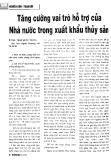 Tăng cường vai trò hỗ trợ của Nhà nước trong xuất khẩu thủy sản