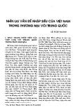 Nhìn lại vấn đề nhập siêu của Việt Nam trong thương mại với Trung Quốc