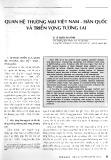 Quan hệ thương mại Việt Nam - Hàn Quốc và triển vọng tương lai