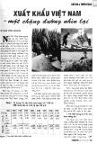 Xuất khẩu Việt Nam - một chặng đường nhìn lại