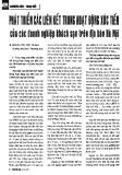 Phát triển các liên kết trong hoạt động xúc tiến của các doanh nghiệp khách sạn trên địa bàn Hà Nội