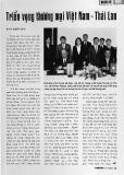 Triển vọng thương mại Việt Nam - Thái Lan