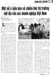 Một số ý kiến bàn về chiếm lĩnh thị trường nội địa của các doanh nghiệp Việt Nam