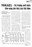 Israel - Thị trường xuất khẩu tiềm năng cho thủy sản Việt Nam