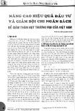 Nâng cao hiệu quả đầu tư và giảm bội chi ngân sách để giảm thâm hụt thương mại của Việt Nam