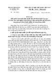 Báo cáo Kết quả 03 năm thực hiện Quyết định số 40/2011/QĐ-TTg ngày 27/7/2011 của Thủ tướng Chính phủ quy định chế độ đối với thanh niên xung phong đã hoàn thành nhiệm vụ trong kháng chiến