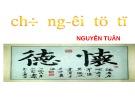 Bài giảng Chữ người tử tù - Nguyễn Tuân