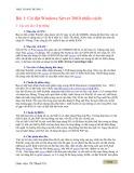 Bài giảng Thực hành chương 1: Cài đặt Windows Server 2003 - Từ Thanh Trí