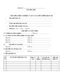 Biên bản kiểm nghiệm và bàn giao sản phẩm, dịch vụ