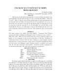 Ứng dụng xử lý ngôn ngữ tự nhiên trong dịch máy - TS. Nguyễn Chí Hiếu