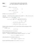 Bài 3: Các bất đẳng thức liên quan tới lũy thừa mũ hữu tỷ hoặc mũ vô tỷ - Trần Thông Quế