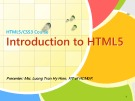HTML5/CSS3 Course - Introduction to HTML5 - Luong Tran Hy Hien