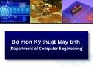 Bài giảng Bộ môn Kỹ thuật máy tính