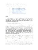 Bài giảng Marketing cơ bản - Chương 13: Thiết kế một số chiến lược marketing điển hình