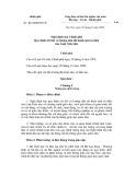Nghị định của Chính phủ Số: 43/2000/NĐ-CP