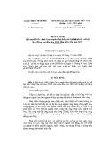 Quyết định Số: 734/2015/QĐ-TTg