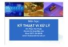 Bài giảng môn học: Kỹ thuật vi xử lý - Phạm Văn Thuận