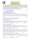 Tài liệu ôn thi môn Sinh học: Chuyên đề 4 - GV. Ngô Hà Vũ