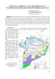 Đánh giá các phương án lựa chọn kiểm soát lũ vùng Đồng Tháp Mười, châu thổ sông MeKong, Việt Nam