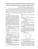 Về tính toán thủy lực xác định kích thước hợp lý của đoạn chuyển tiếp thu hẹp có đáy phẳng trên dốc nước sau ngưỡng của đường tràn dọc