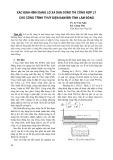 Xác định hình dạng lỗ xả dẫn dòng thi công hợp lý cho công trình thuỷ điện Đam'bri tỉnh Lâm Đồng
