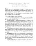 Bàn về quyền dùng nước và vấn đề phân bổ nguồn nước sử dụng ở nước ta - PGS.TS. Nguyễn Văn Thắng