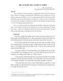 Hệ cơ sở dữ liệu về hồ tự nhiên - ThS. Lưu Văn Lâm