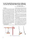 Cơ sở lí thuyết để xây dựng mô hình động học của cần trục tháp kiểu tháp cố định, đầu bằng - ThS. Nguyễn Anh Tuấn
