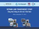 Công khai thông tin đất đai ở Việt Nam