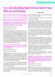 Các văn bản pháp luật mới ban hành trong lĩnh vực môi trường - Minh Thông