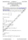 Đáp án đề thi tuyển sinh cao học năm 2013 môn thi: Toán kinh tế - Đại học Kinh tế Hồ Chí Minh (Mã đề 118)